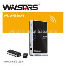 Wireless 5G HDMI WHDI Transmitter und Receiver AV Kit, unterstützt Full HD 1080p Signale.