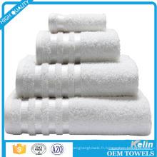 Fournisseur de la Chine 100 serviettes blanches de piscine d'hôtel de coton pour l'hôtel 5 étoiles