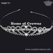 Unique Crystal Small Tiaras In Simple Design