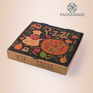 Corrugated Pizza Box Kraft Takeout Containers