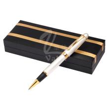 Werbungsschreibens-Kugelschreiber-Metallrollen-Feder mit Geschenk-Kasten