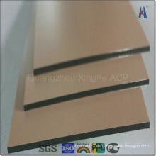 Golden Mirror Panel de aluminio compuesto para revestimiento decorativo