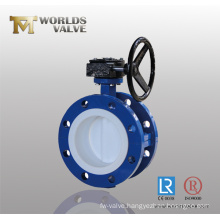 PTFE Lined Double Flanged Butterfly Valve with Ce&ISO&Wras (D341X-10/16)