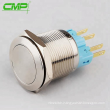 CMP Stainless steel waterproof 22mm latching pushbutton switch