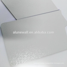 Interior wall decorative embossed aluminum composite wall panel