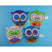 Non-Stuffed Cute Owl Frisbee with Squeaker or Beeps for Pets