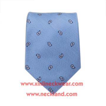 Cravate tissée à la main 100% soie tissée jacquard