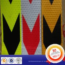 Setas de aviso de PVC refletindo fita