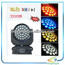 Wash 36 * 5w RGB DMX LED Moving Head, 12/16 DMX Kanäle, mit Touchscreen