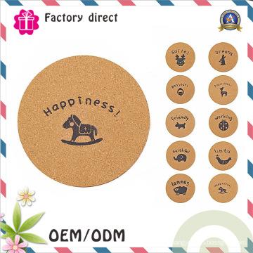 Coasters en bois faits à la main Tapis isolants de bureau Ensemble tapis