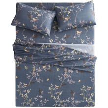 Countryside style leaf floral pattern luxury bedding sheet set