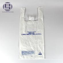 Sacs de poignée de gilet de petite taille de logo blanc personnalisé