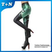 Custom printed tights girls full body leggings