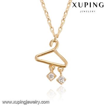 43892 bijoux de mode fabriqués dans la Chine en gros delicat or cintre pendentif en alliage de cuivre bijoux collier