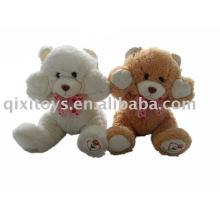brinquedo de pelúcia fofo urso de pelúcia com fita