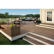 Vente en gros de bois massif en plastique composite WPC Decking Lamminate Flooring