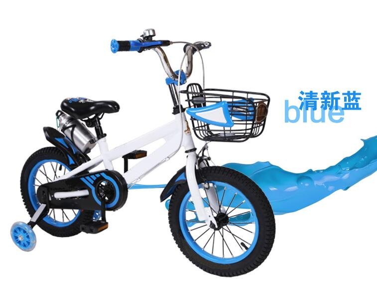 Unisex Colorful child bicycles with steel basket