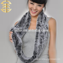2015 new product wholesale hotsale winter scarf genuine rex rabbit knitted fur scarf