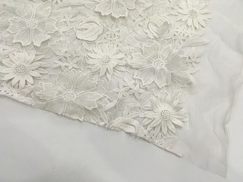 3D Handmade Flower Embroidery Fabric