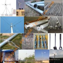 5kw Sistema de gerador de energia eólica para uso doméstico ou agrícola Sistema fora da rede GEL BATTERY 12V100AH