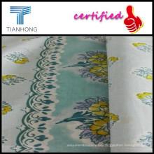 Soild teñido popelín de impresión para textil hogar, flores de tela impresa para la fabricación de la tela del popelín faldas/de algodón niños
