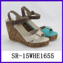 Frauen stapeln Sandalen Keil Sandale Mode Sandale 2015 High Heel Sandalen