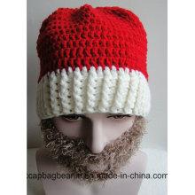 Рождественская шляпа Вязание Борода Hat