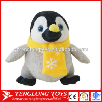 New arrival Hot Selling Plush Christmas Stuffed Penguin Toy with hat and scarf