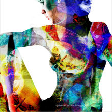 Pintura al óleo desnuda del arte pop