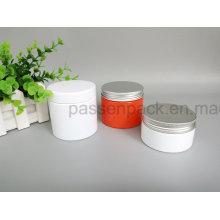 Weißes farbiges kosmetisches Creme-Plastikglas (PPC-87)