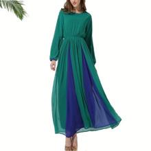 vêtements de polyester islamique de qualité douce dubai robe noire de froissage de dubai