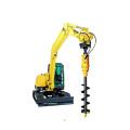 Mini excavator auger drilling machine
