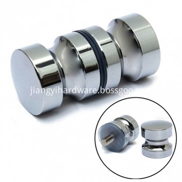Brass shower door glass cabin door knobs