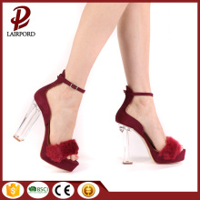red color high heel girls sex sandals