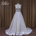 Ruffle Cheap Ivory Satin Wedding Dresses