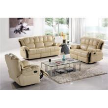 Sofá reclinável elétrico do sofá de couro genuíno do couro (756)