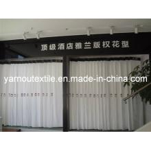 100%Cotton Satin Stripe/Plain/Jacquard/Dobby Bleached White Hotel Bedding Fabric (YNL001)
