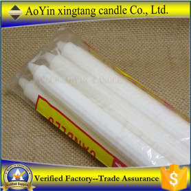 75g fluted white candle for home lighting