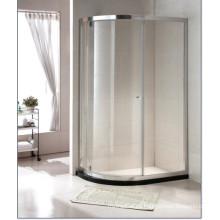 Venta caliente Vidrio templado Sitio de ducha simple con la nueva puerta de pivote (C15)