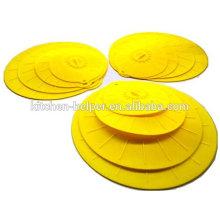 Набор из 4 силиконовых крышек с крышкой для всасывания крышек для повторного использования / крышки силиконового всасывания / крышки крышки силиконового чехла