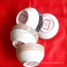 Cerámica cena tazones porcelana sopa tazones forma redonda