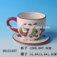 2016 new christmas kitchenware,ceramic christmas cups and saucers