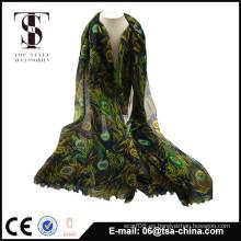 2014 bufanda vendedora caliente impresa bufanda modelada