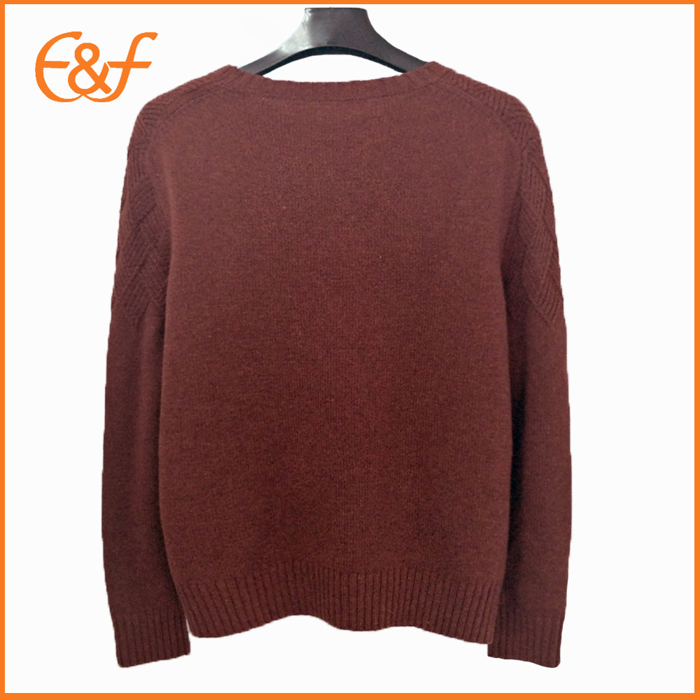 Mens Red Acrylic Sweater Stylish Sweaters