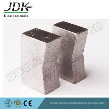 Segment de diamant en forme de K pour une grande lame de scie