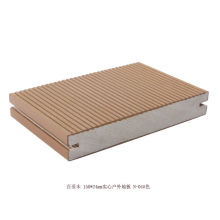 Solid Core Wood Plastic Composite Decking With Wood Grain For Courtyard Decoration