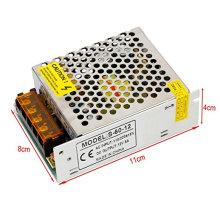 Nuevo AC110V / 220V a DC12V 5A 60W Interruptor fuente de alimentación para LED tira de luz