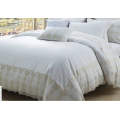 Luxurious Bedding Sets 100 Cotton Solid Color Bed Sets with Lace