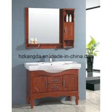Cabinet de salle de bain en bois massif / vanité de salle de bain en bois massif (KD-446)