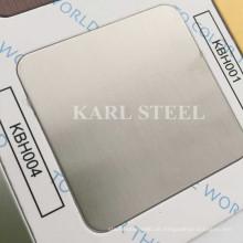 Edelstahl Silber Farbe Hairline Kbh004 Blatt für Dekorationsmaterialien